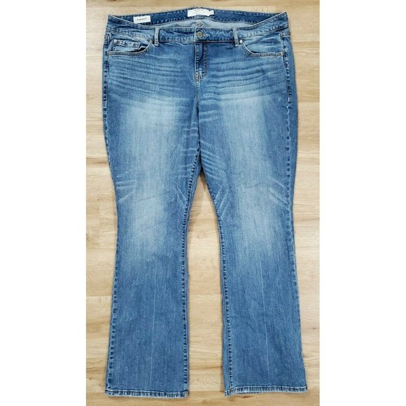 Torrid Womens Slim Boot Blue Jeans Size 22